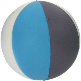 Monogrammed Beach Ball Stress Ball