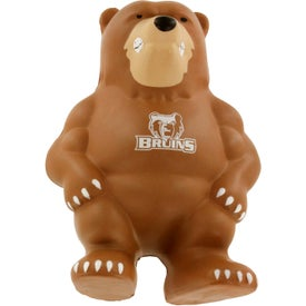Promotional Bear Mascot Stress Ball