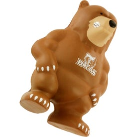 Printed Bear Mascot Stress Ball