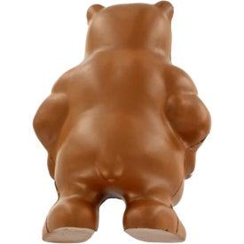 Monogrammed Bear Mascot Stress Ball