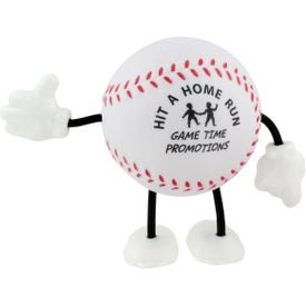 Advertising Baseball Figure Stress Ball