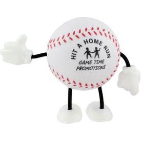 Advertising Baseball Figure Stress Ball