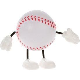Promotional Baseball Figure Stress Ball