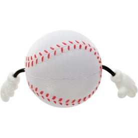 Printed Baseball Figure Stress Ball
