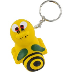 Printed Bee Key Chain Stress Ball