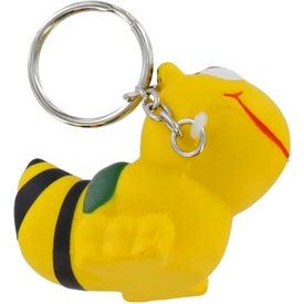 Custom Bee Key Chain Stress Ball