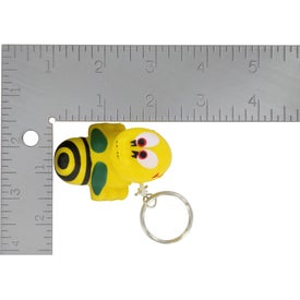 Custom Bee Key Chain Stress Ball