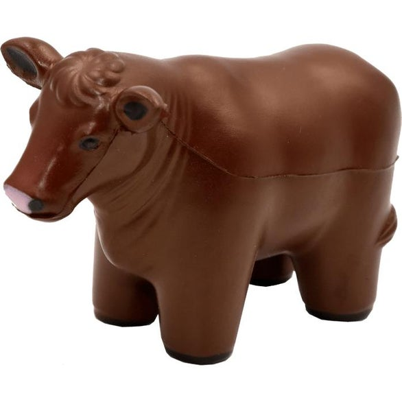 Brown Beef Cow Stress Toy
