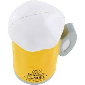 Beer Mug Stress Ball Imprinted with Your Logo