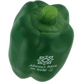 Bell Pepper Stress Ball Imprinted with Your Logo