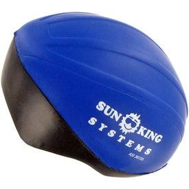 Imprinted Bicycle Helmet Stress Ball