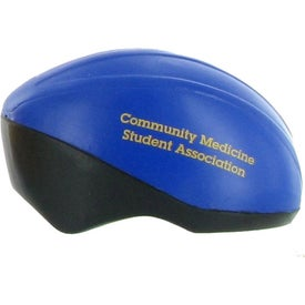 Bicycle Helmet Stress Ball with Your Slogan