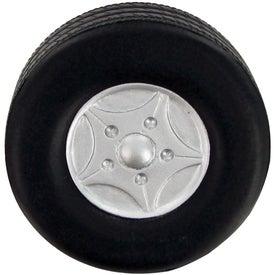 Monogrammed Big Tire Stress Toy