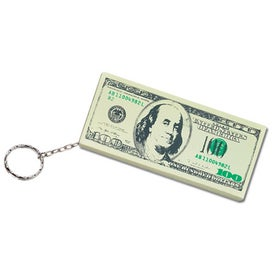 100 Dollar Bill Key Chain Branded with Your Logo