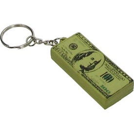 Printed 100 Dollar Bill Key Chain