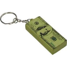 Printed 100 Dollar Bill Key Chain