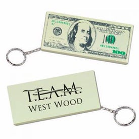 100 Dollar Bill Key Chain