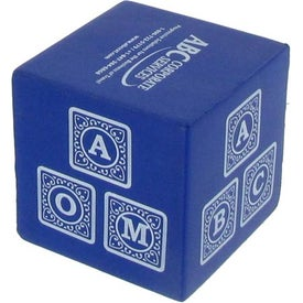 Company Blue Cube Stress Reliever