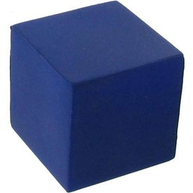 Blue Cube Stress Reliever for Advertising