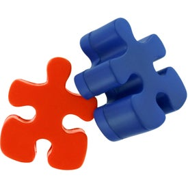 Imprinted Puzzle Piece Stress Reliever