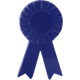 Blue Ribbon Stress Reliever Printed with Your Logo