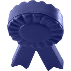 Customized Blue Ribbon Stress Reliever