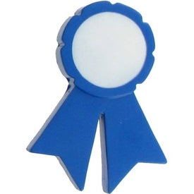 Blue Ribbon Stress Ball with Your Slogan