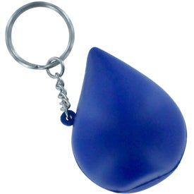Promotional Blue Drop Stress Reliever Key Ring