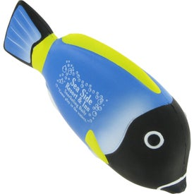 Monogrammed Blue Tang Fish Stress Ball
