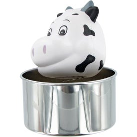 Monogrammed Bobble Head Cow Stress Toy
