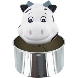 Imprinted Bobble Head Cow Stress Toy