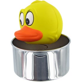 Imprinted Bobble Head Duck Stress Toy