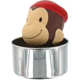 Personalized Bobble Head Monkey Stress Toy