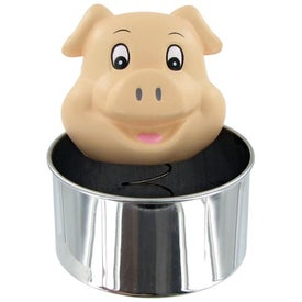 Personalized Bobble Head Pig Stress Toy