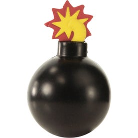 Branded Bomb With Fuse Stress Ball