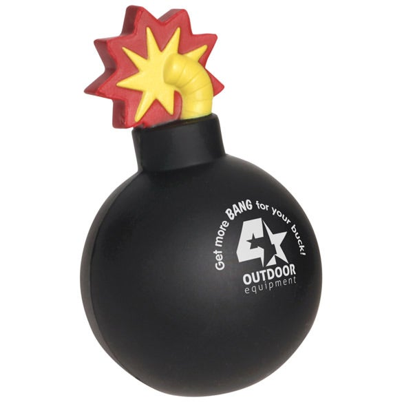 Bomb With Fuse Stress Ball