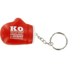 Branded Boxing Glove Key Chain Stress Ball