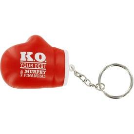 Branded Boxing Glove Key Chain Stress Ball