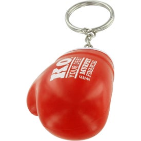 Boxing Glove Key Chain Stress Ball Printed with Your Logo