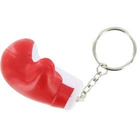 Imprinted Boxing Glove Key Chain Stress Ball