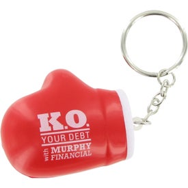 Boxing Glove Key Chain Stress Ball for Promotion