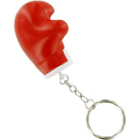 Printed Boxing Glove Key Chain Stress Ball