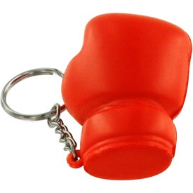Branded Boxing Glove Stress Reliever Key Ring