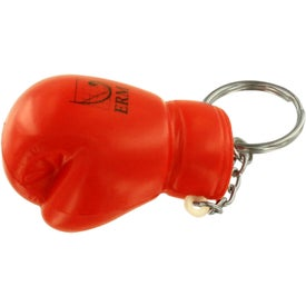 Printed Boxing Glove Stress Reliever Key Ring