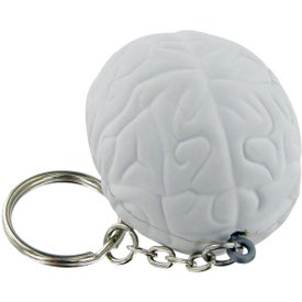 Brain Keychain Stress Toy Imprinted with Your Logo