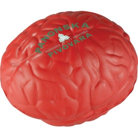 Squeezable Brain Stress Ball Branded with Your Logo