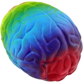 Rainbow Brain Stress Ball Branded with Your Logo
