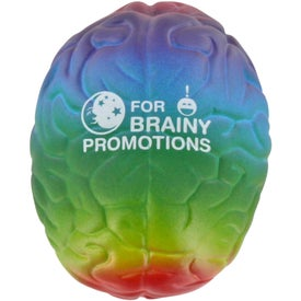 Custom Rainbow Brain Stress Ball