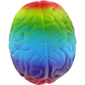 Monogrammed Rainbow Brain Stress Ball