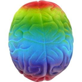 Monogrammed Rainbow Brain Stress Ball